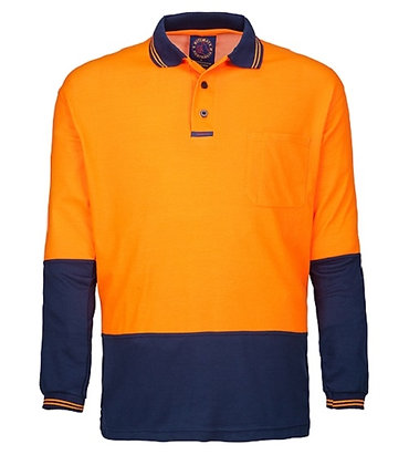 Hi Viz Long Sleeve Polo