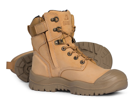 Mongrel Heat/Oil/Acid Resistant High Leg Zip Sided Boot with Scuff Cap Wheat