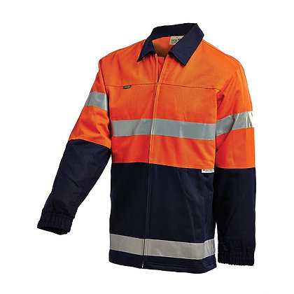 WORKIT Hi-Vis 2 Tone Cotton Drill Taped Jacket