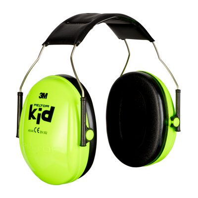 3M™ PELTOR™ Kid Ear Muff Fluro Green