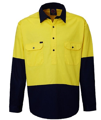 Closed Front 2 Tone Work Shirt