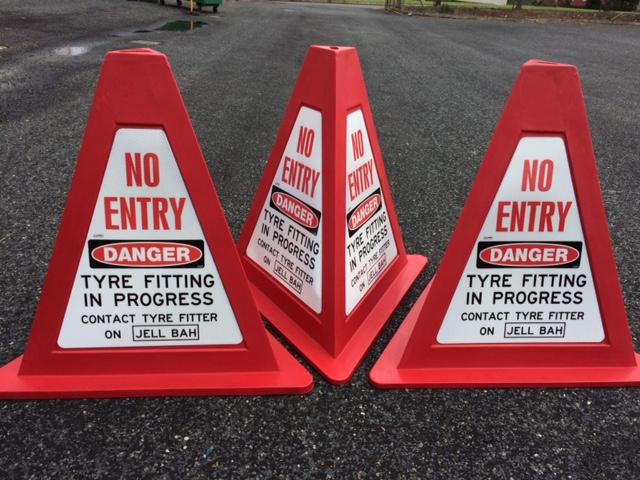 Custom Signage - Mining Cones