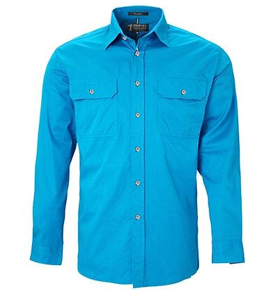 Pilbara Collection Mens Work Shirt Azure