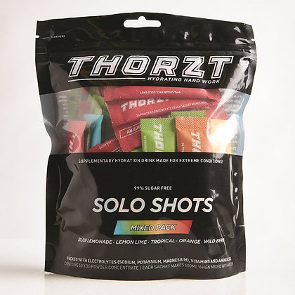 Sugar Free Solo Shot - 50 x 3gm Sachets - Mixed Flavours