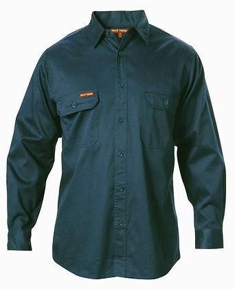 Hard Yakka Merc Drill Green Work Shirt