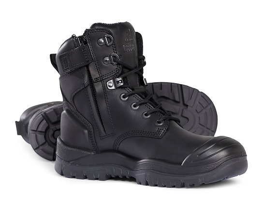 Mongrel Heat/Oil/Acid Resistant High Leg Zip Sided Boot with Scuff Cap Black