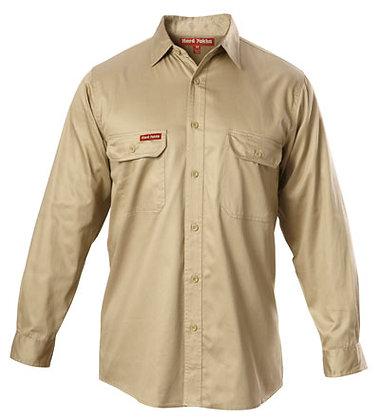 Hard Yakka Merc Drill Khaki Work Shirt