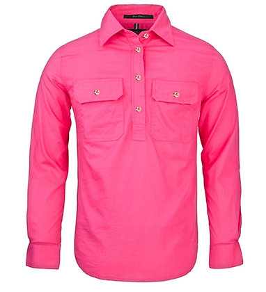 Pilbara Collection Ladies Closed Front Shirt Fuchsia