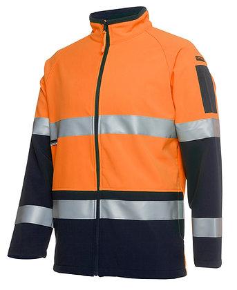 Hi Vis Softshell Jacket Orange/Navy