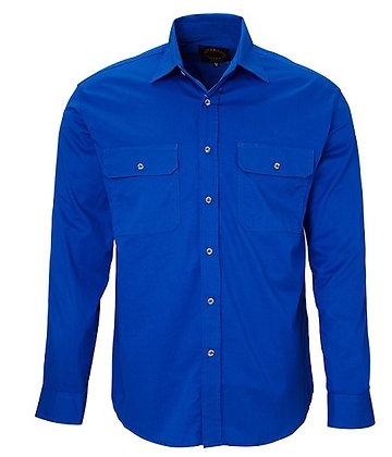 Pilbara Collection Mens Work Shirt Cobalt Blue