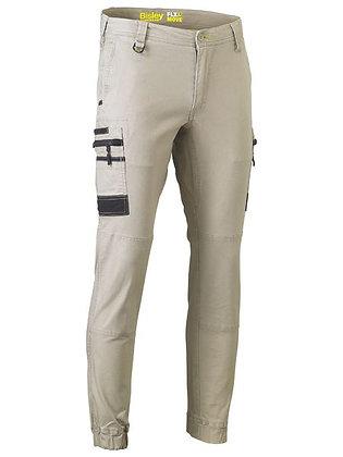 Bisley Flex & Move Stretch Cargo Cuffed Pants Stone