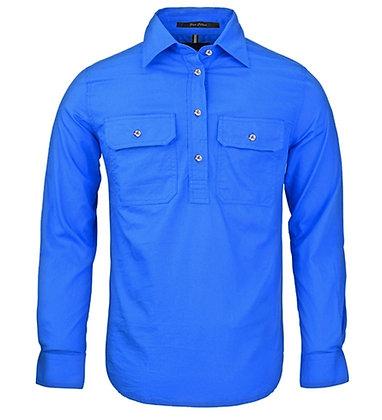Pilbara Collection Ladies Closed Front Shirt Cobalt Blue
