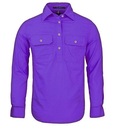 Pilbara Collection Ladies Closed Front Shirt Purple