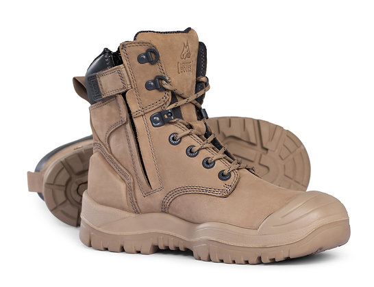Mongrel Heat/Oil/Acid Resistant High Leg Zip Sided Boot with Scuff Cap  Stone