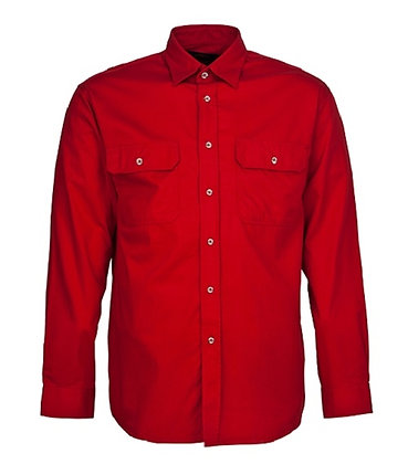 Pilbara Collection Mens Work Shirt Red
