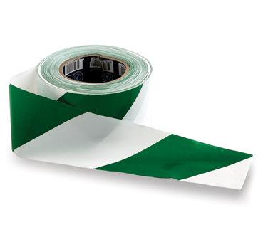 Green & White Barricade Tape