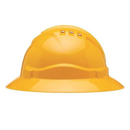 V6 Hard Hat Vented Full Brim Ratchet Harness