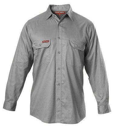 Hard Yakka Merc Drill Grey Work Shirt