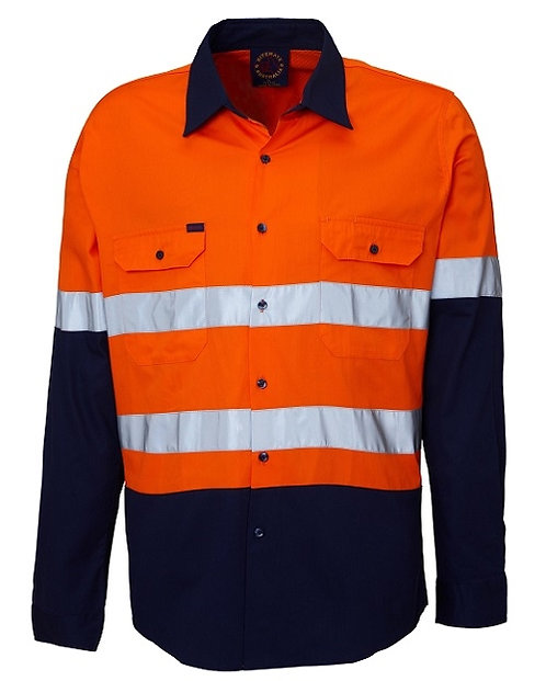 Vented 2 Tone Work Shirt with 3M Tape