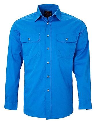 Pilbara Collection Mens Work Shirt Light Blue