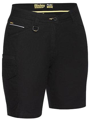 Bisley Women's FLX & MOVE™ Stretch Cargo Short Black