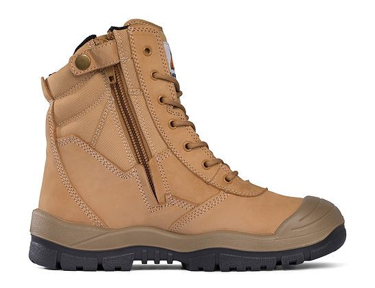 Mongrel High Leg Zip Sided Boot with Scuff Cap Wheat