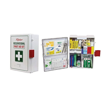 Wallmount ABS Plastic National Workplace First Aid Kit