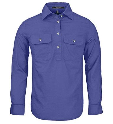 Pilbara Collection Ladies Closed Front Shirt Lavender