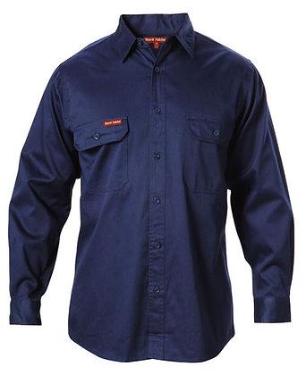 Hard Yakka Merc Drill Navy Work Shirt
