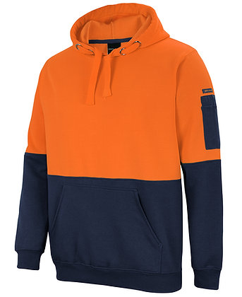 Hi Vis Pull Over Hoodie Orange/Navy