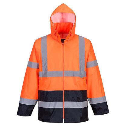 Portwest Hi Vis Rain Jacket Orange/Navy