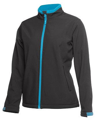 Podium Ladies Water Resistant Softshell Jacket Aqua