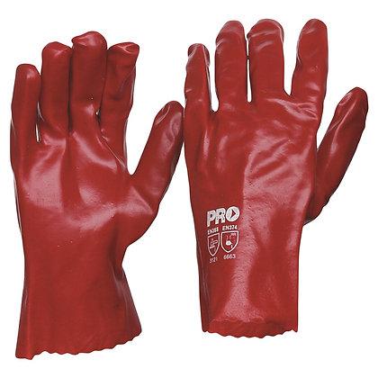 27cm Red PVC Gloves