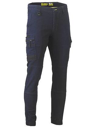 Bisley Flex & Move Stretch Cargo Cuffed Pants Navy