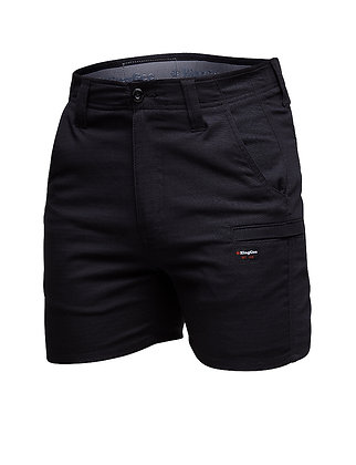 King Gee Pro Stretch Ripstop Short Shorts Black