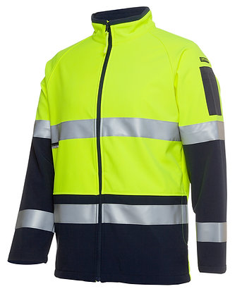 Hi Vis Softshell Jacket Lime/Navy