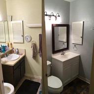 before and after half bath remodel