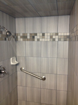 handicapped accessible shower remodel