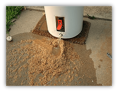 sediment build up in water heater