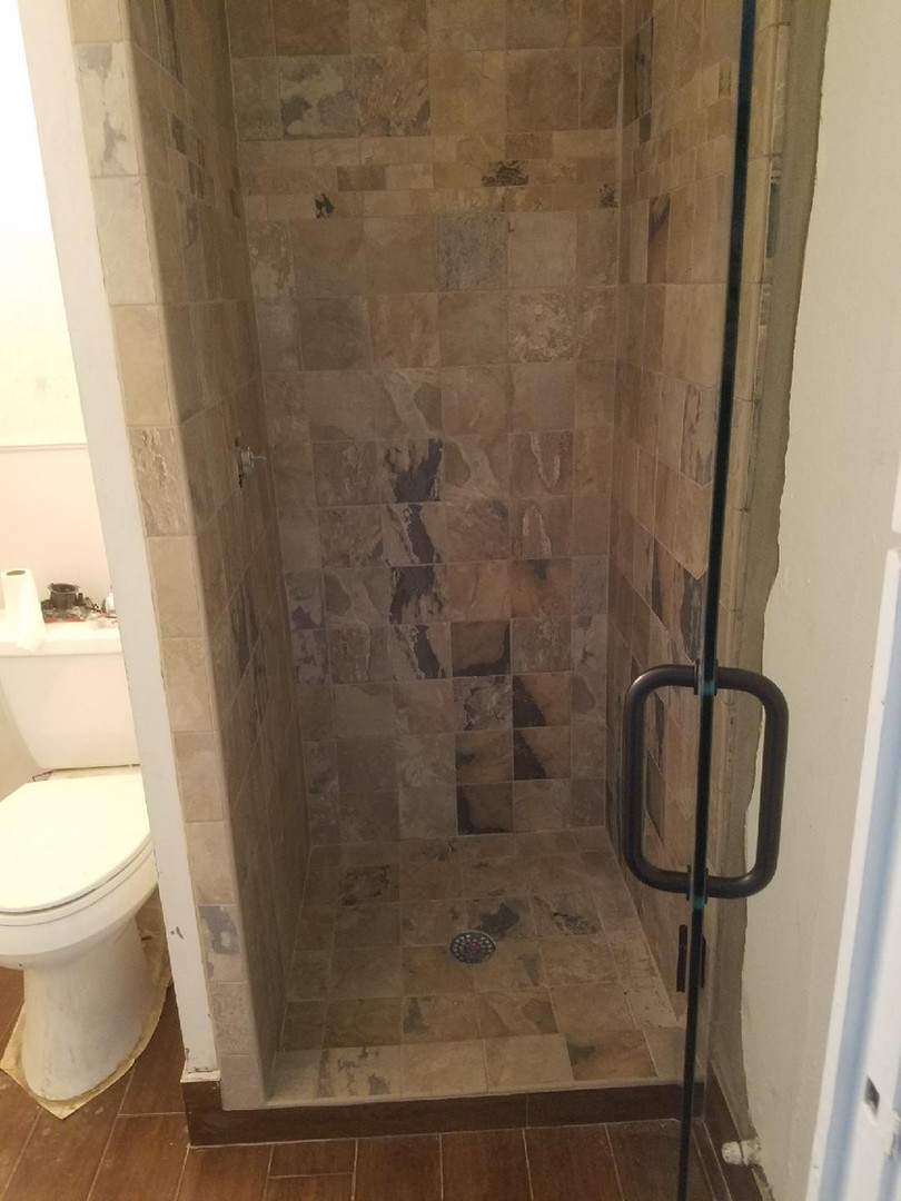 small shower remodel
