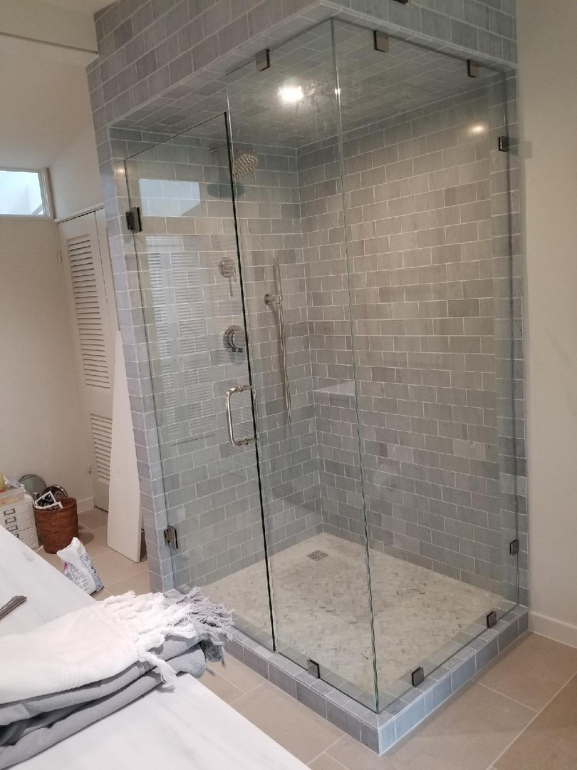 stand up shower remodel
