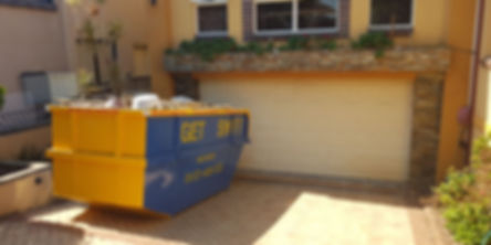 Skip bin truck, skip bin, Residental rubbish