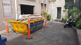 Skip bin truck, skip bin, commercial rubbish