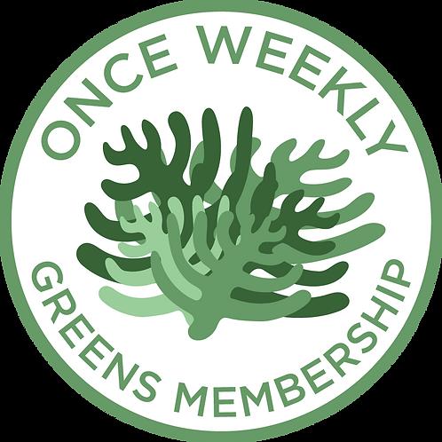 Once Weekly Greens Membership
