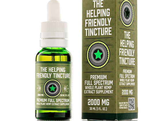 The Helping Friendly Tincture - FULL SPECTRUM - 2000 mg