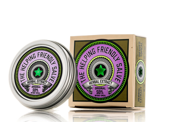 The Helping Friendly Salve  - 50mg Herbal Extract Topical Travel Size