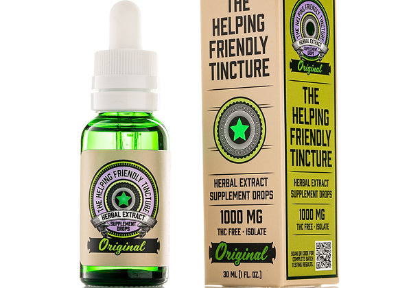 The Helping Friendly Tincture - Original (Unflavored) - 1000mg Herbal Extract