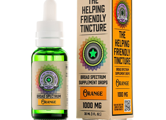 The Helping Friendly Broad Spectrum Tincture - Berry - 1000mg