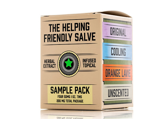 The Helping Friendly Salve 4-Pack Variety CBD Salve