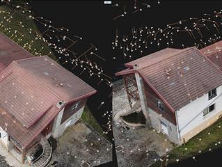 Auscultation de toiture en photogrammétrie par drone